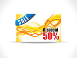 abstract yellow discount card template