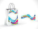abstract artistic colorful shopping bag