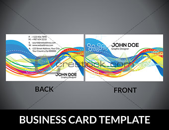 abstract colorful artistic business card template