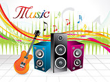 abstract artistic musical background