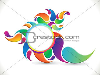 abstract artistic colorful circle background