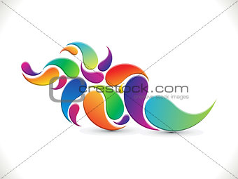 abstract artistic colorful floral background