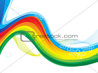 abstract colorful artistic rainbow wave