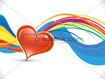 abstract artistic colorful love background