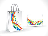 abstract artistic shopping bag