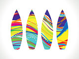 abstract colorful rainbow surf board