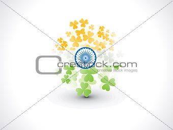 abstract artistic creative indian clover flag