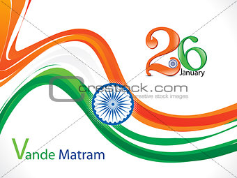 abstract republic day wave background
