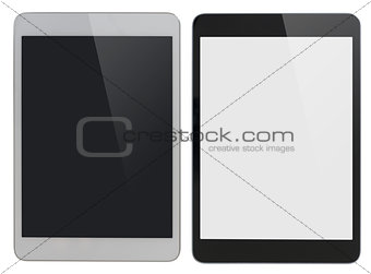 modern tablet PC similar to ipad isolated with clipping path included