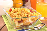 Fresh Fruits with Corn Flakes