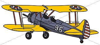 Old american biplane