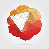 Vector. Abstract 3D geometric illustration.