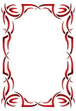 Gothic vertical frame on a white background. Tribal