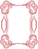 vector frame with swirls on a white background