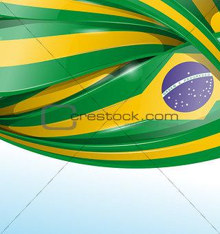brazil  background with flag set