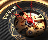 Break on Black-Golden Watch Face.