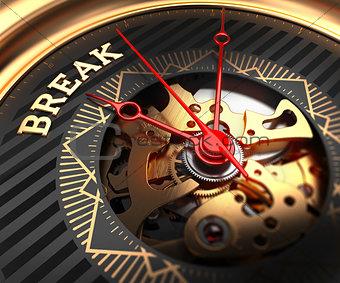 Break on Black-Golden Watch Face.