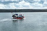 Trawler and sea