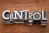 control word in metal type