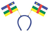 Witty headdress flags Central African Republic