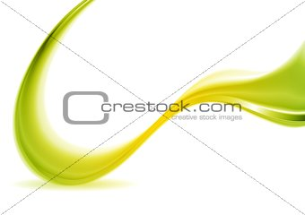 Abstract green and yellow futuristic wave