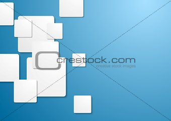 Corporate tech background with squares