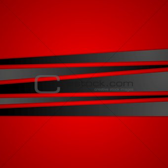 Black stripes on red background