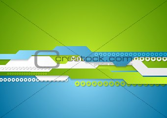Green blue technology vector background