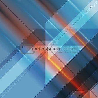 Bright geometric technology background