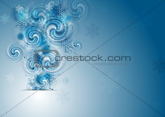 Abstract blue Christmas vector background