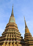 Ancient Pagoda or Chedi at Wat Pho Temple, Thailand