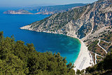 Panoramic view of Myrtos beach, Kefalonia