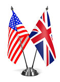 USA and United Kingdom - Miniature Flags.