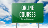 Online Courses on Highway Signpost.