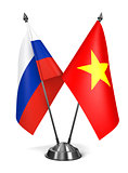 Russia and Vietnam - Miniature Flags.