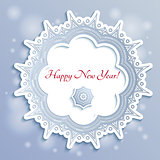 Snowflake New Year Card