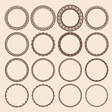 Set of Round Pattern Frames