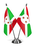 Burundi - Miniature Flags.