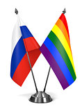 Russia and Gay - Miniature Flags.