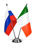 Russia and Ireland - Miniature Flags.
