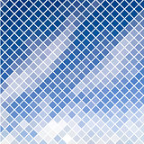 Blue diagonal mosaic in sky effect