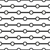 Tile black and white geometric vector pattern background