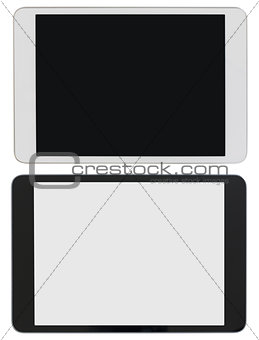 modern tablet PC or ipad photo isolated with clipping path included
