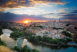 Sunset in Toledo, Castile-La Mancha, Spain