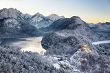 Hohenschwangau Castle at wintertime, Alps, Germany