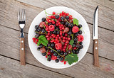 Fresh ripe berries plate