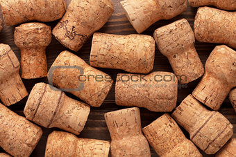 Champagne wine corks texture