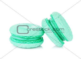 Aquamarine color macarons
