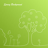 Simple green spring background template