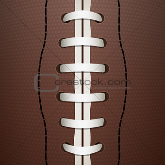 American Football Closeup Background Illustration